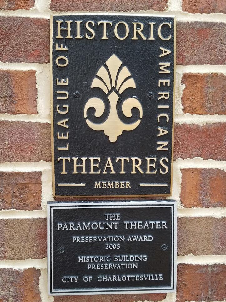 paramount historic plaque