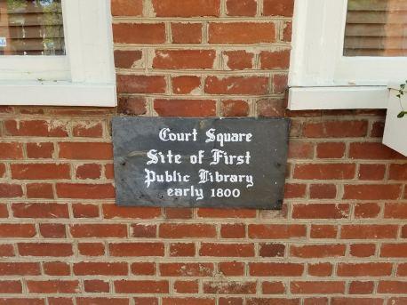 first library door plaque