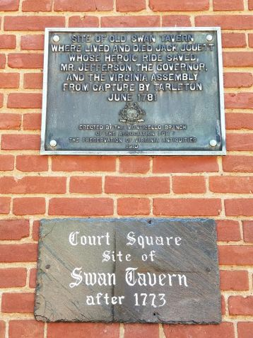 swan tavern plaque