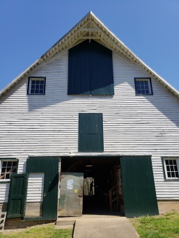 The front of the large barn on the Ivy creek property.