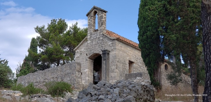 hvar church on hill