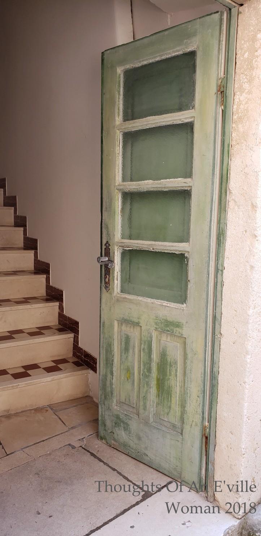 green korcula door