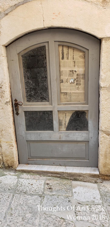 grey korcula door