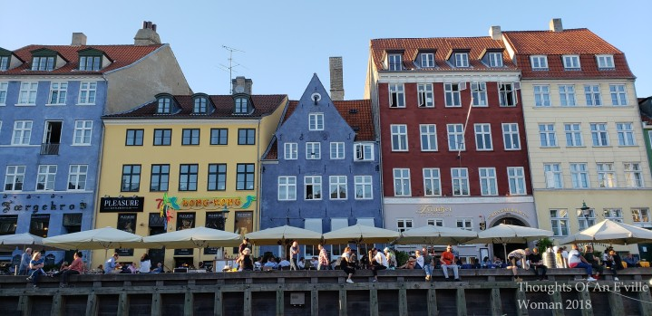 Colorful waterway buildings