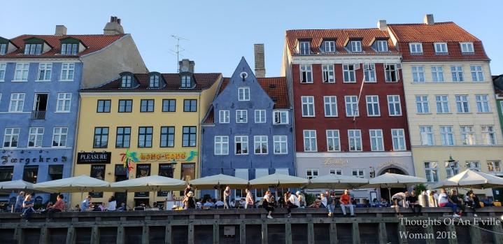 Colorful waterway buildings